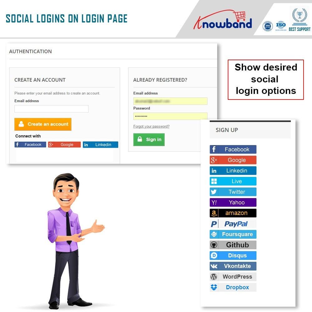 module - Botones de inicio de Sesión/Conexión - Knowband-Acceso Social 14 in 1,Estadísticas & MailChimp - 4