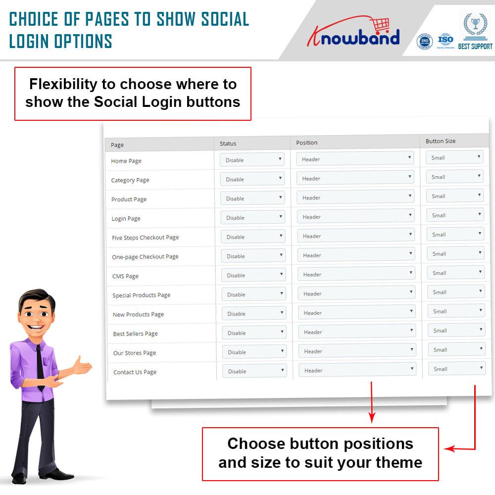 module - Módulos de Botões de Login & Connect - Knowband-Login Social 14 em 1, Estatísticas e MailChimp - 5