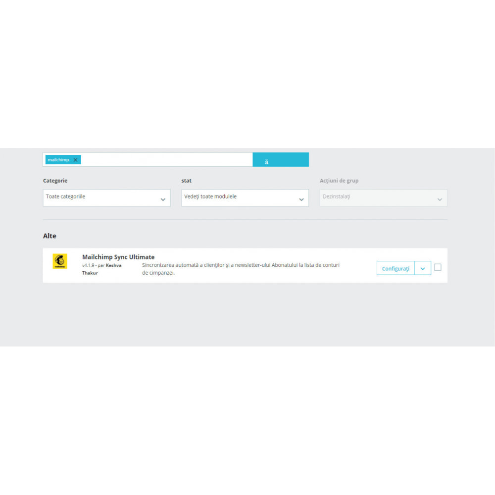 module - Рассылка новостей и SMS - Mailchimp Sync Ultimate - 1