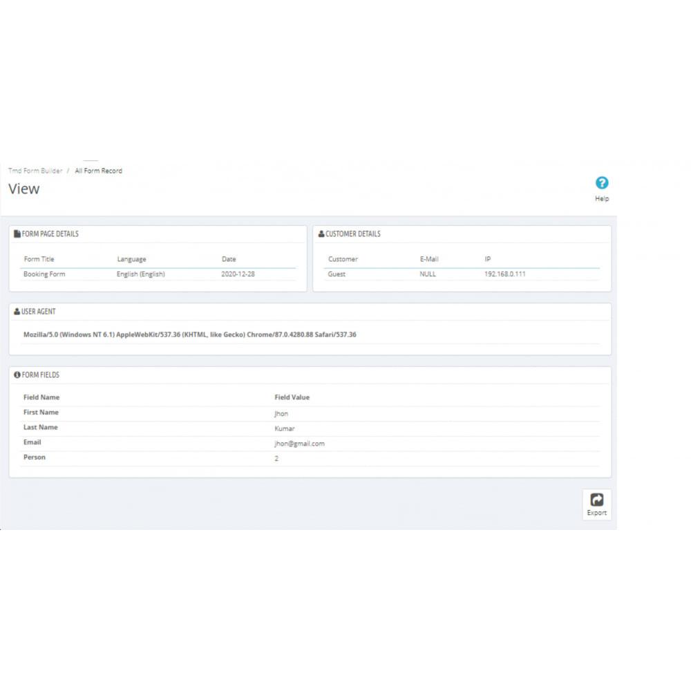module - Formulario de contacto y Sondeos - Form Builder Pro - 15