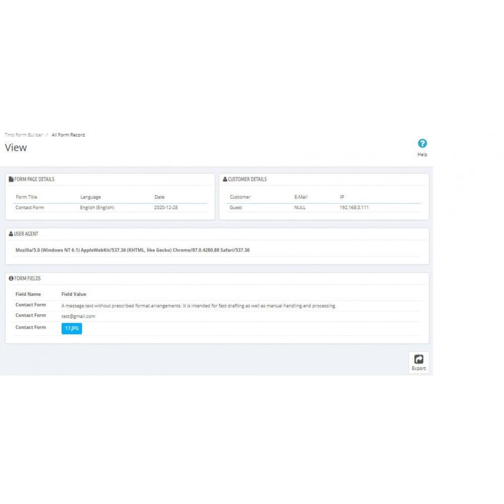 module - Formulario de contacto y Sondeos - Form Builder Pro - 19