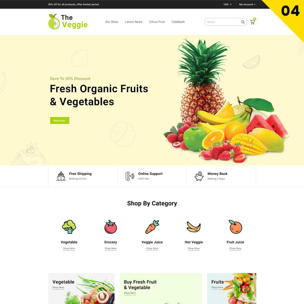 theme - Alimentation & Restauration - Veggie - Le magasin bio - 6