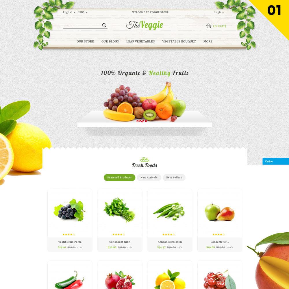 theme - Gastronomía y Restauración - Veggie - La tienda de productos orgánicos - 3