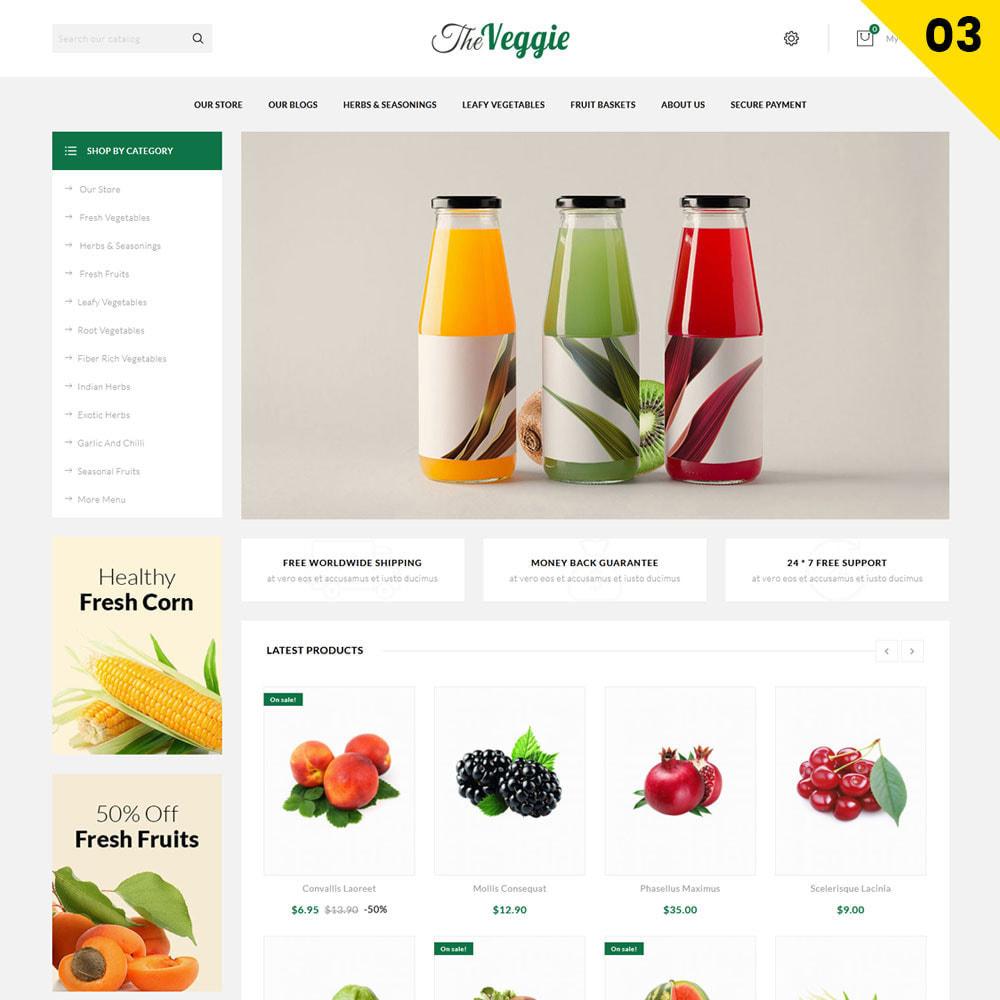 theme - Gastronomía y Restauración - Veggie - La tienda de productos orgánicos - 5