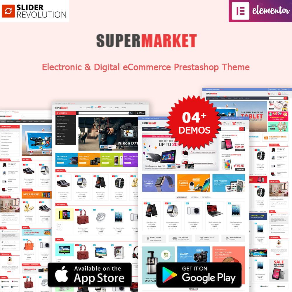 theme - Electrónica e High Tech - K-Market Elementor Electronics & Supermarket - 1