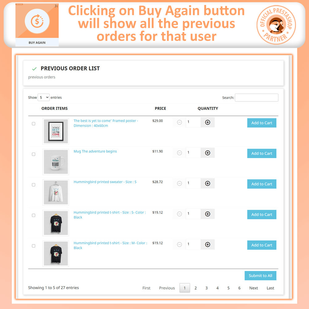 module - Payment - Buy Again - One Click Reorder - 3