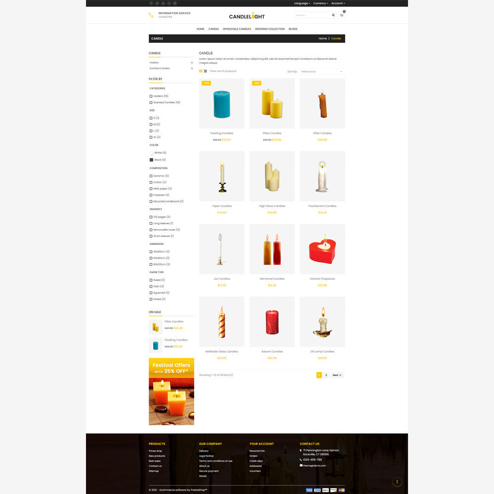 theme - Gifts, Flowers & Celebrations - Candle Store - 3