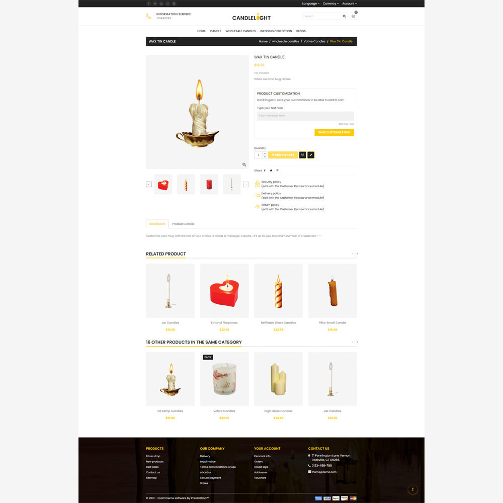 theme - Gifts, Flowers & Celebrations - Candle Store - 4