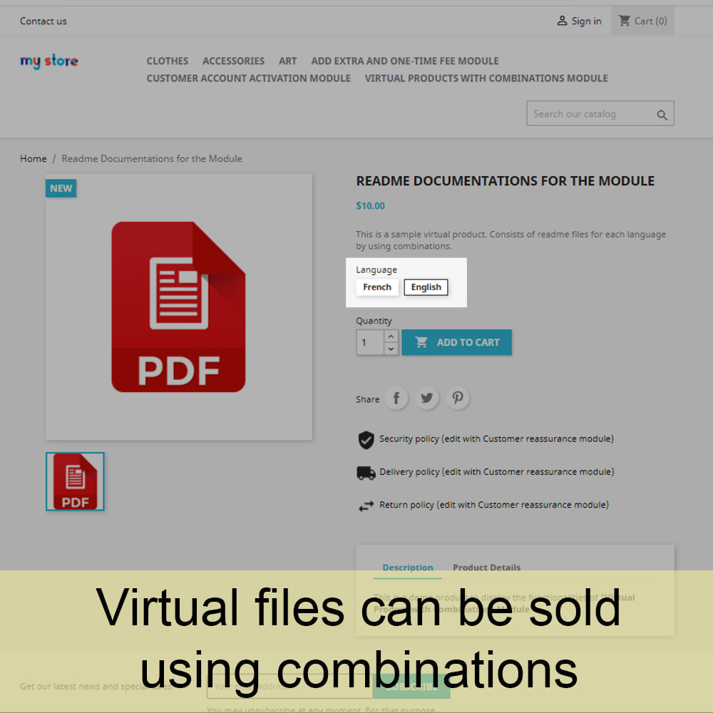 module - Virtuele producten - Virtual Products with Combinations - 1