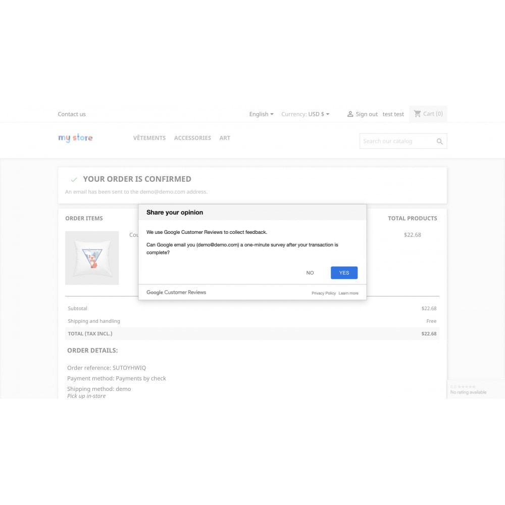 module - Kundenbewertungen - Google Customer Reviews by Google - 2