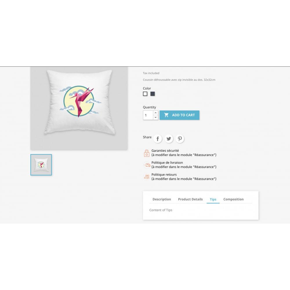module - Informação Adicional & Aba de Produto - Product Tabs Plus - 2