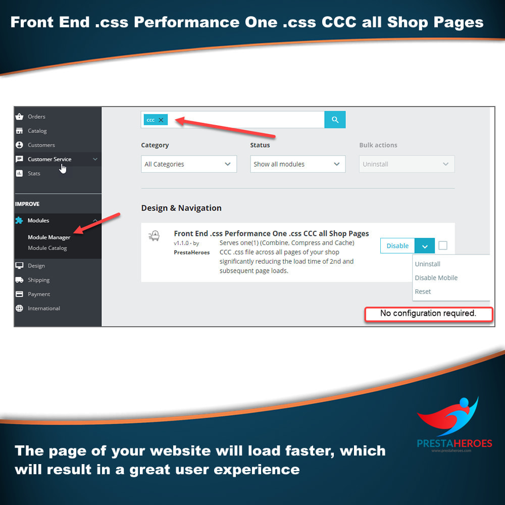 module - Wydajnośc strony - Front End .css Performance One .css CCC all Shop Pages - 2
