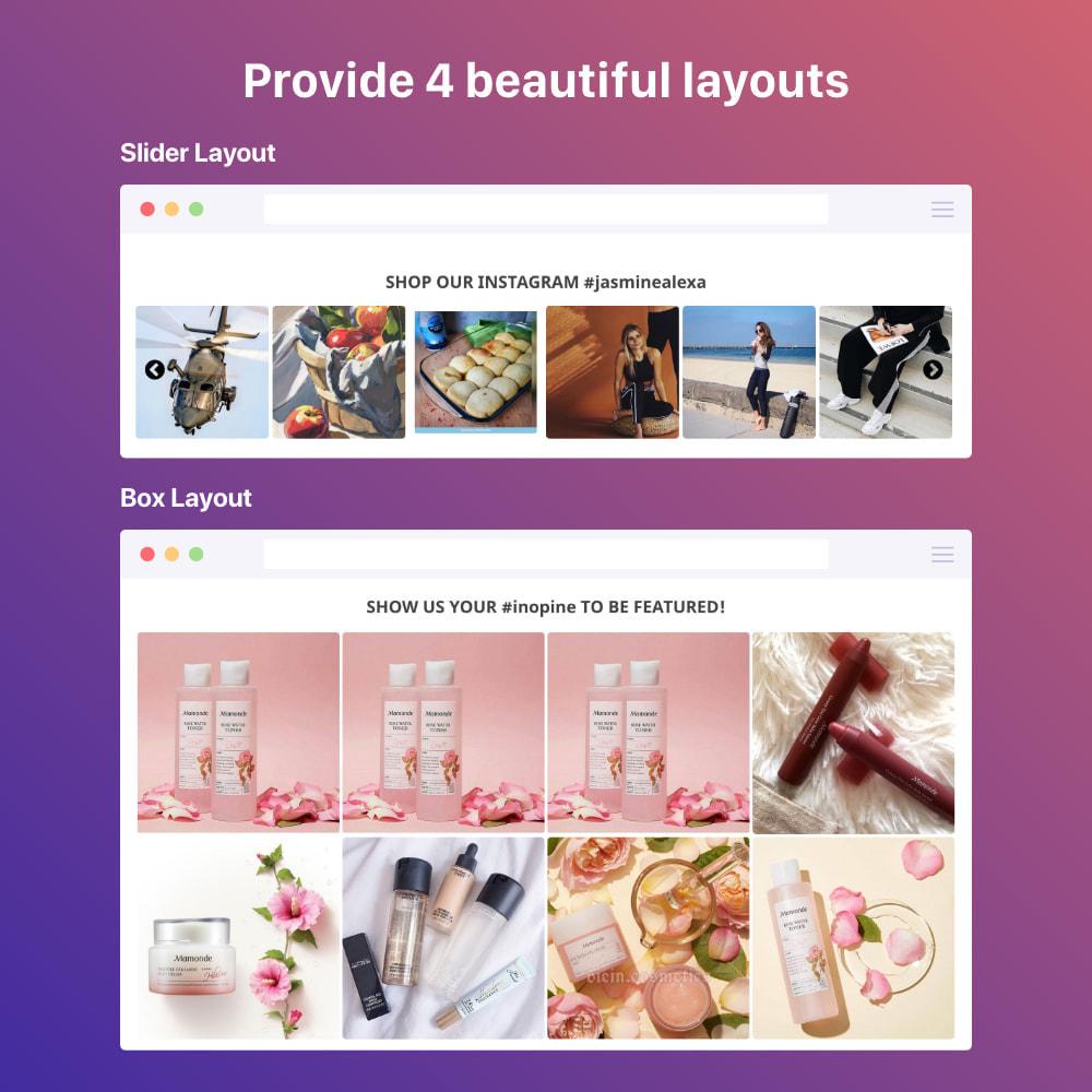 module - Silder & Gallerien - Shoppable Instagram Feed: carousel, slider, gallery - 1