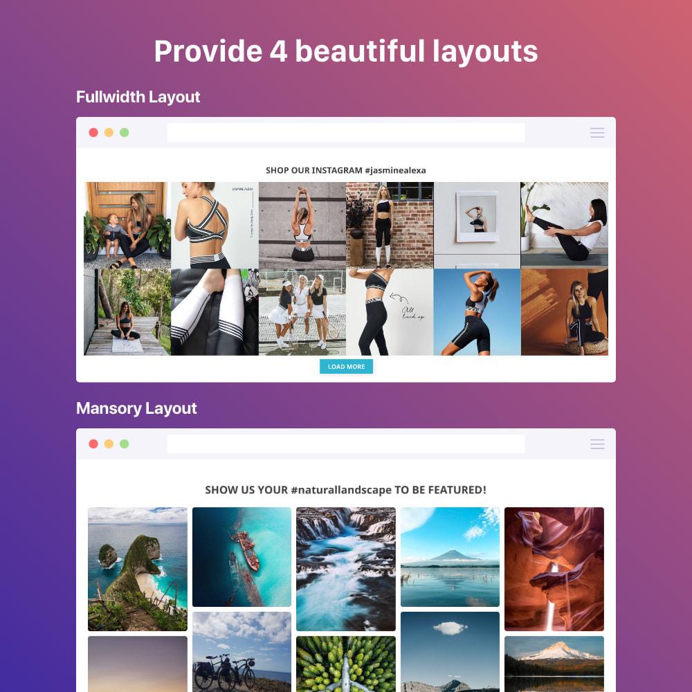 module - Silder & Gallerien - Shoppable Instagram Feed: carousel, slider, gallery - 2