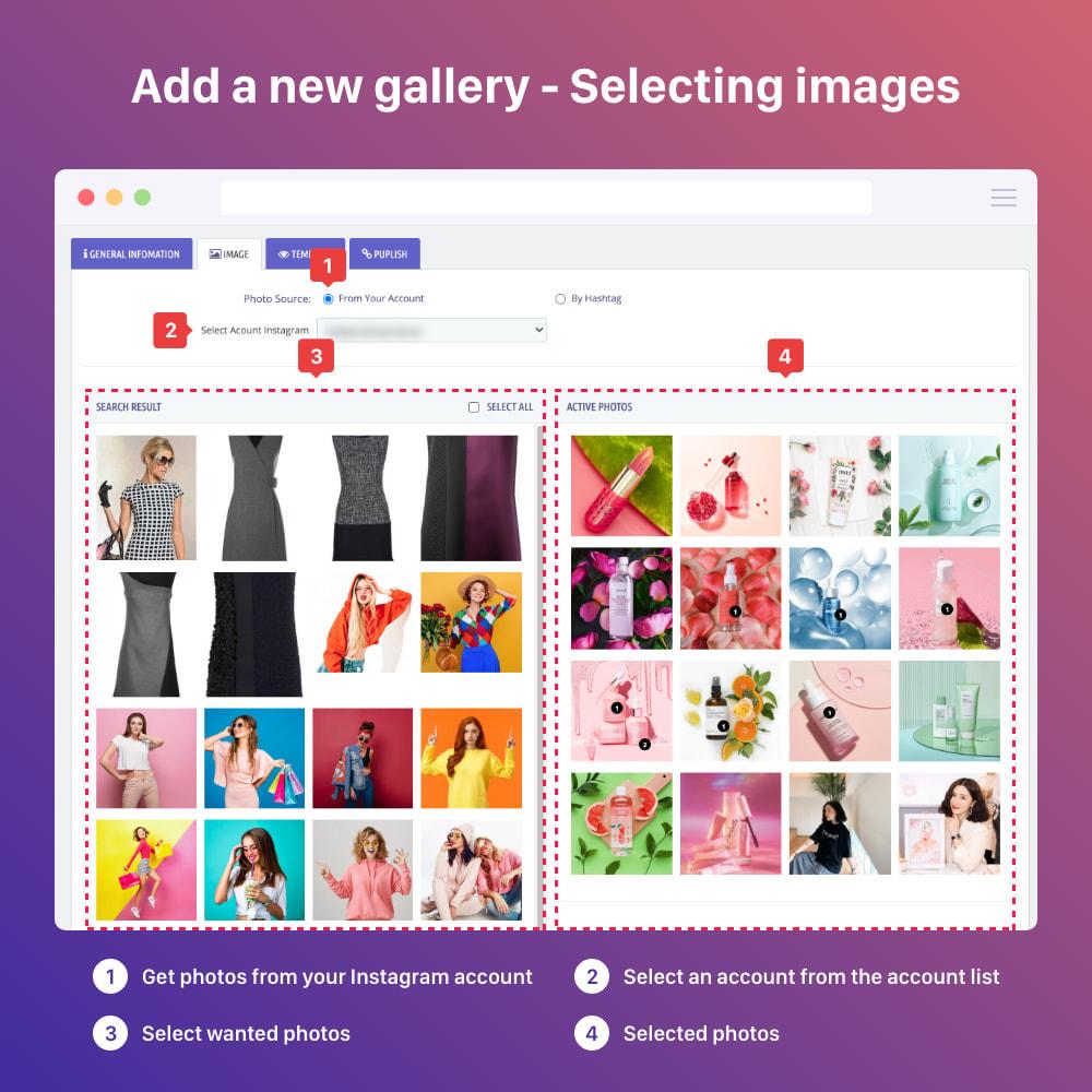 module - Silder & Gallerien - Shoppable Instagram Feed: carousel, slider, gallery - 9
