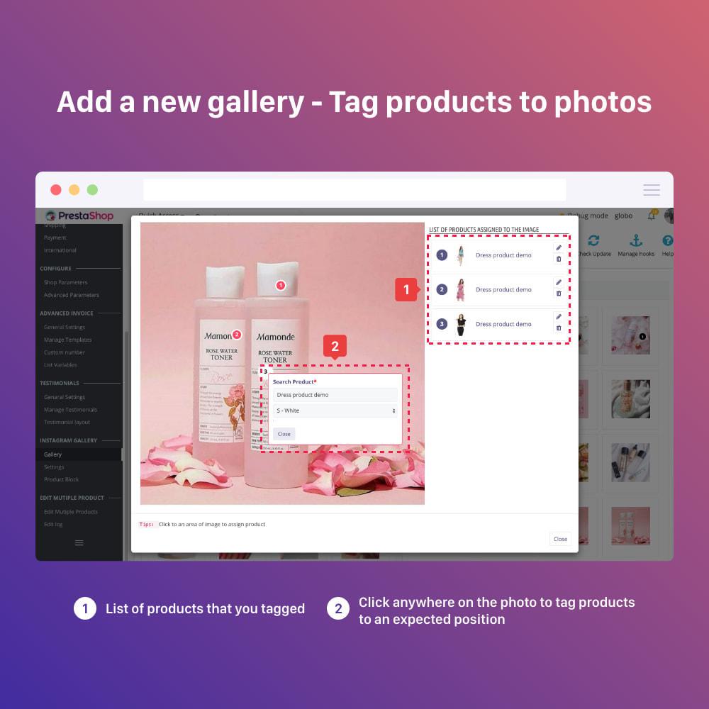 module - Silder & Gallerien - Shoppable Instagram Feed: carousel, slider, gallery - 11