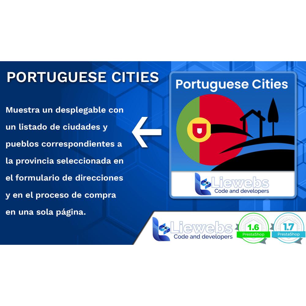 module - Inscripción y Proceso del pedido - Portuguese Cities (Ciudades y pueblos portugueses) - 1
