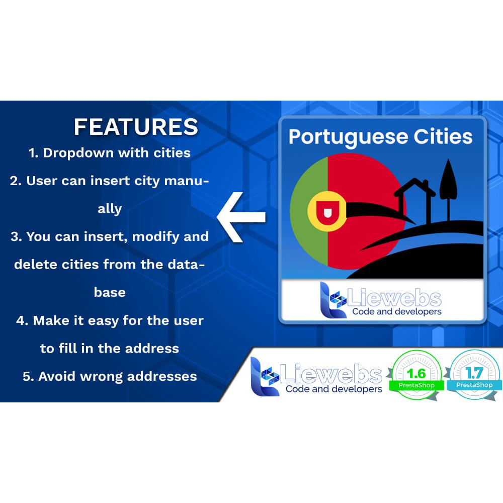 module - Pегистрации и оформления заказа - Portuguese Cities (Portuguese cities, towns, villages) - 2