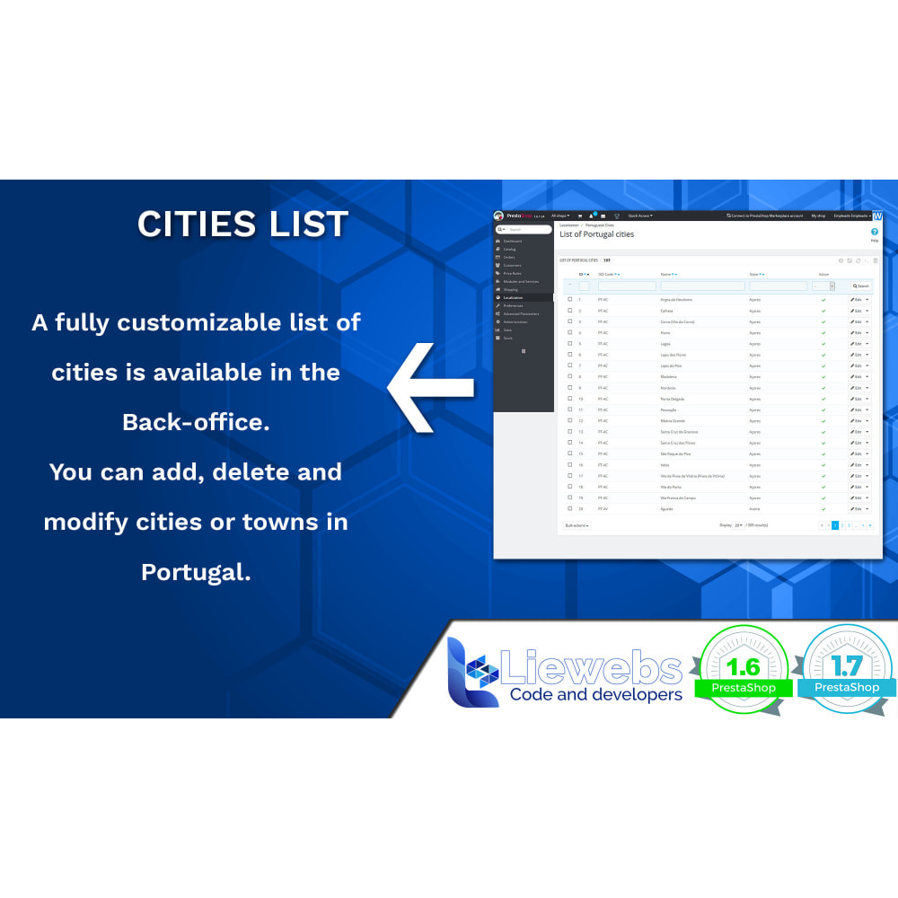 module - Pегистрации и оформления заказа - Portuguese Cities (Portuguese cities, towns, villages) - 4