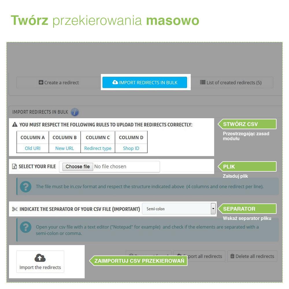 module - URL & Przekierowania - SEO Redirects: Przekierowania 301, 302, 303 i błąd 404 - 3