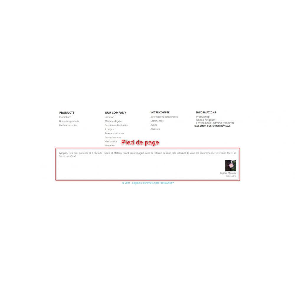 module - Avis clients - Avis Face book - 2