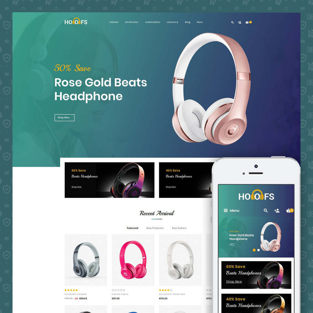 theme - Electronics & Computers - Hoofs - Headphone Store - 1