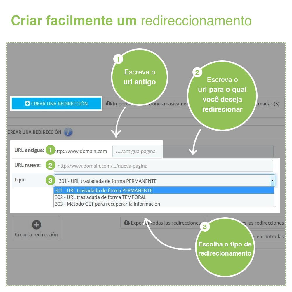 module - Gestão de URL & Redirecionamento - 301, 302, 303 URL Redireciona e 404 – SEO - 2