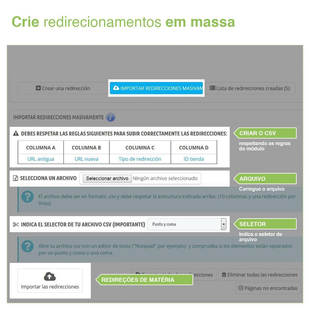 module - Gestão de URL & Redirecionamento - 301, 302, 303 URL Redireciona e 404 – SEO - 3