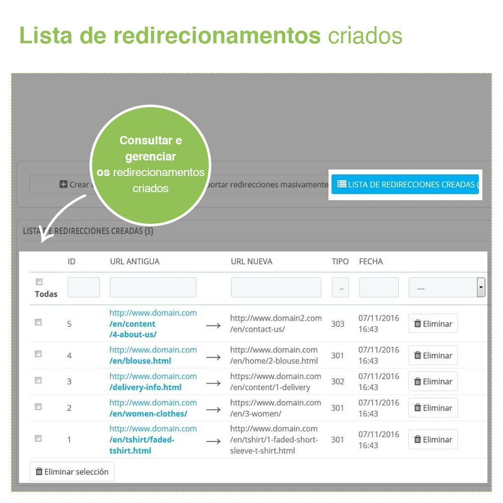 module - Gestão de URL & Redirecionamento - 301, 302, 303 URL Redireciona e 404 – SEO - 4