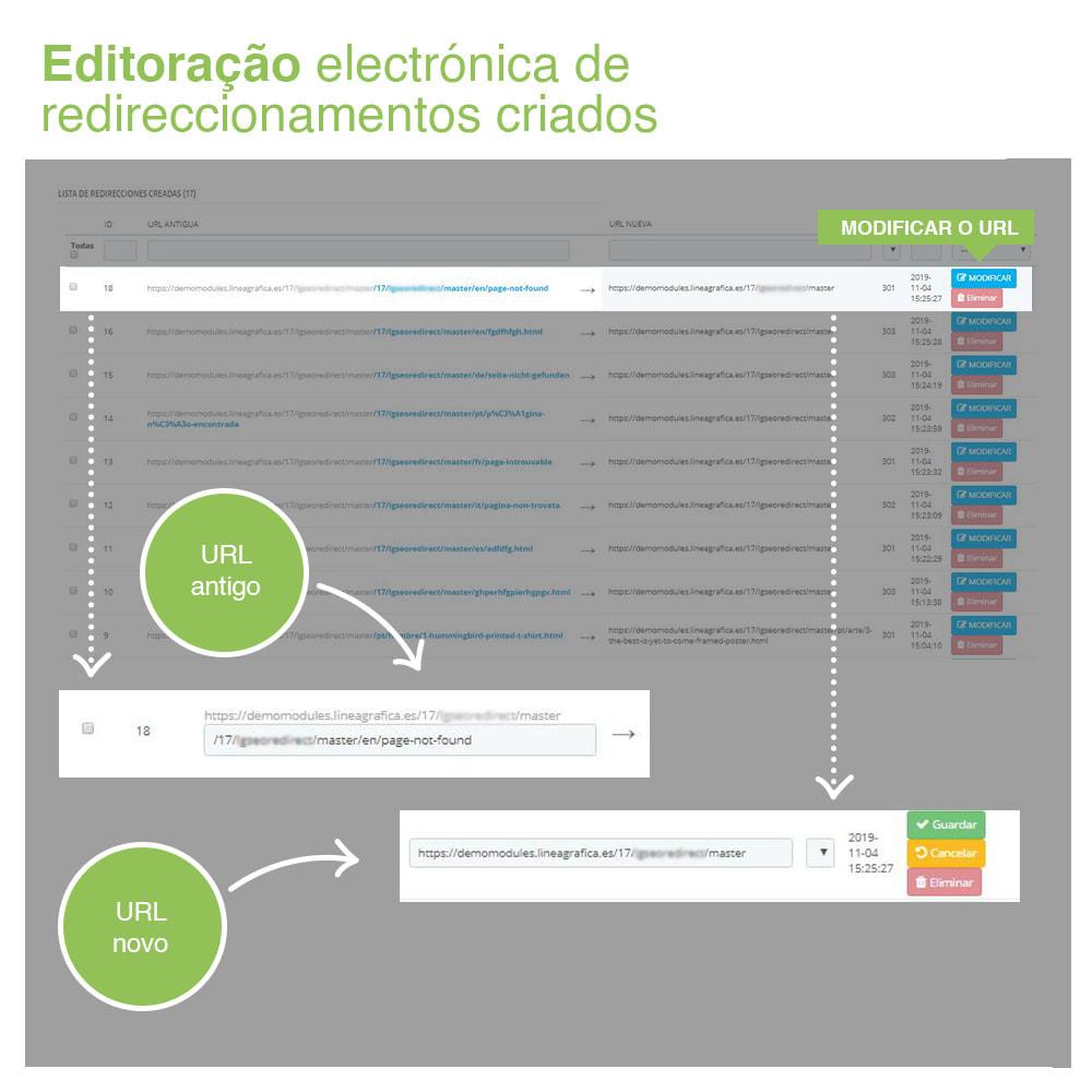 module - Gestão de URL & Redirecionamento - 301, 302, 303 URL Redireciona e 404 – SEO - 5