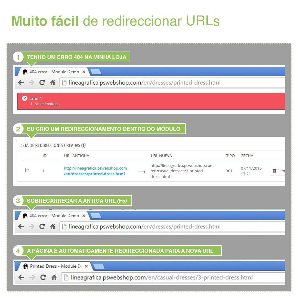 module - Gestão de URL & Redirecionamento - 301, 302, 303 URL Redireciona e 404 – SEO - 8