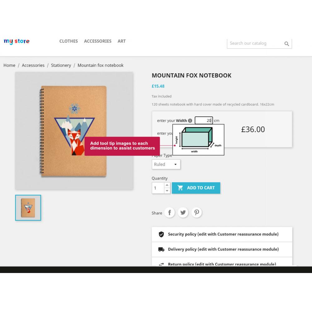 module - Rozmiary i jednostki - Product Price By Size - 5