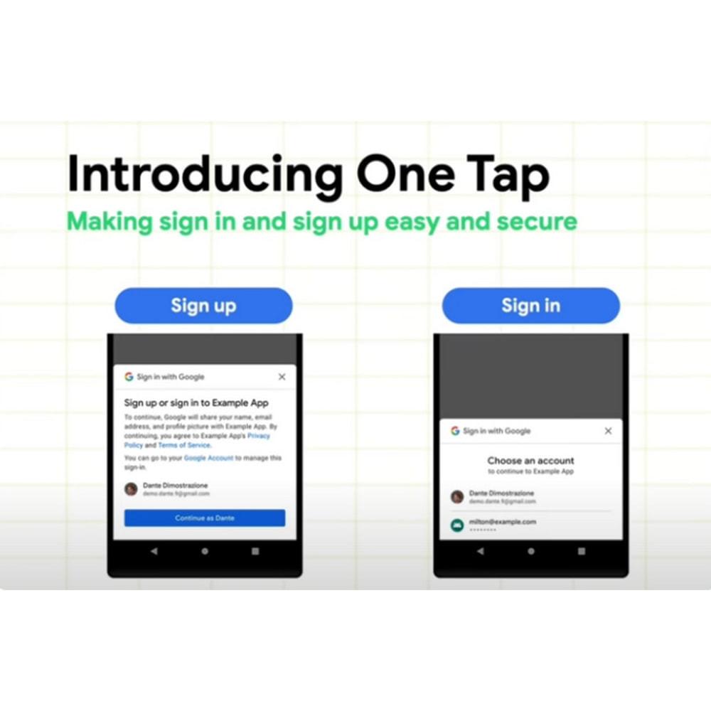 module - Botones de inicio de Sesión/Conexión - Google One Tap sign-in and sign-up - 1