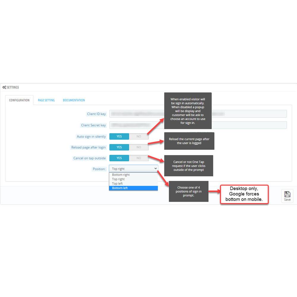 module - Botones de inicio de Sesión/Conexión - Google One Tap sign-in and sign-up - 5