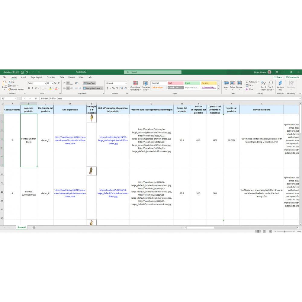 module - Data Import & Export - Esportazione di Prodotti Pro (Excel, CSV, XML, PDF) - 7
