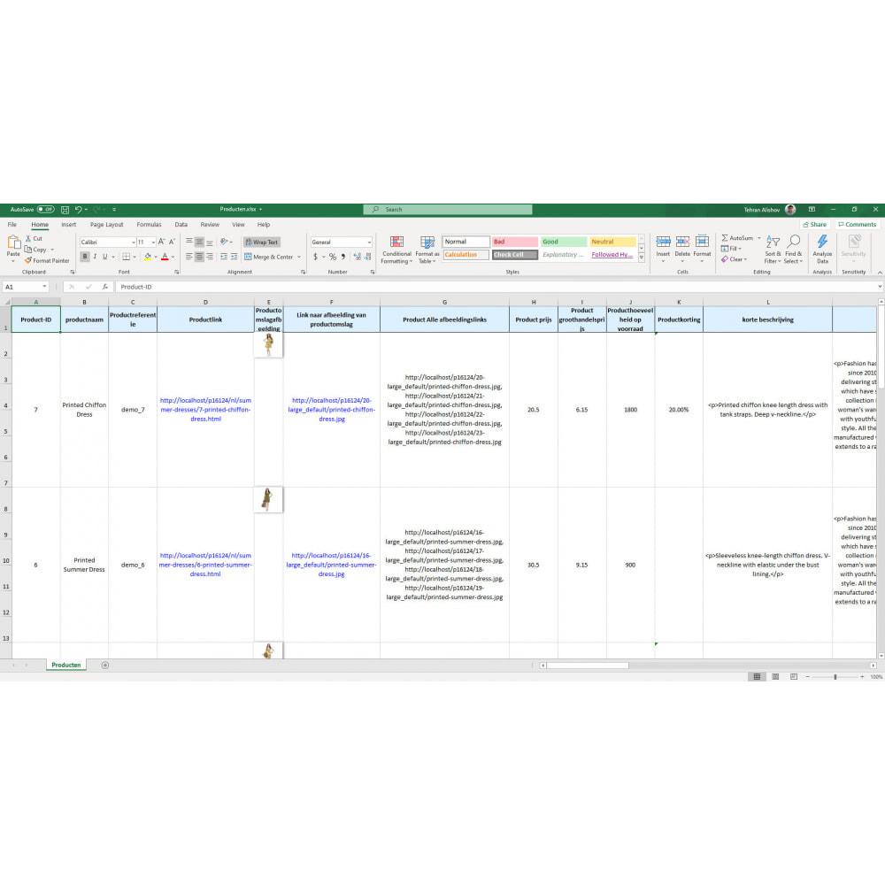module - Importeren en Exporteren van data - Producten Export Pro (Excel, CSV, XML, PDF) - 7