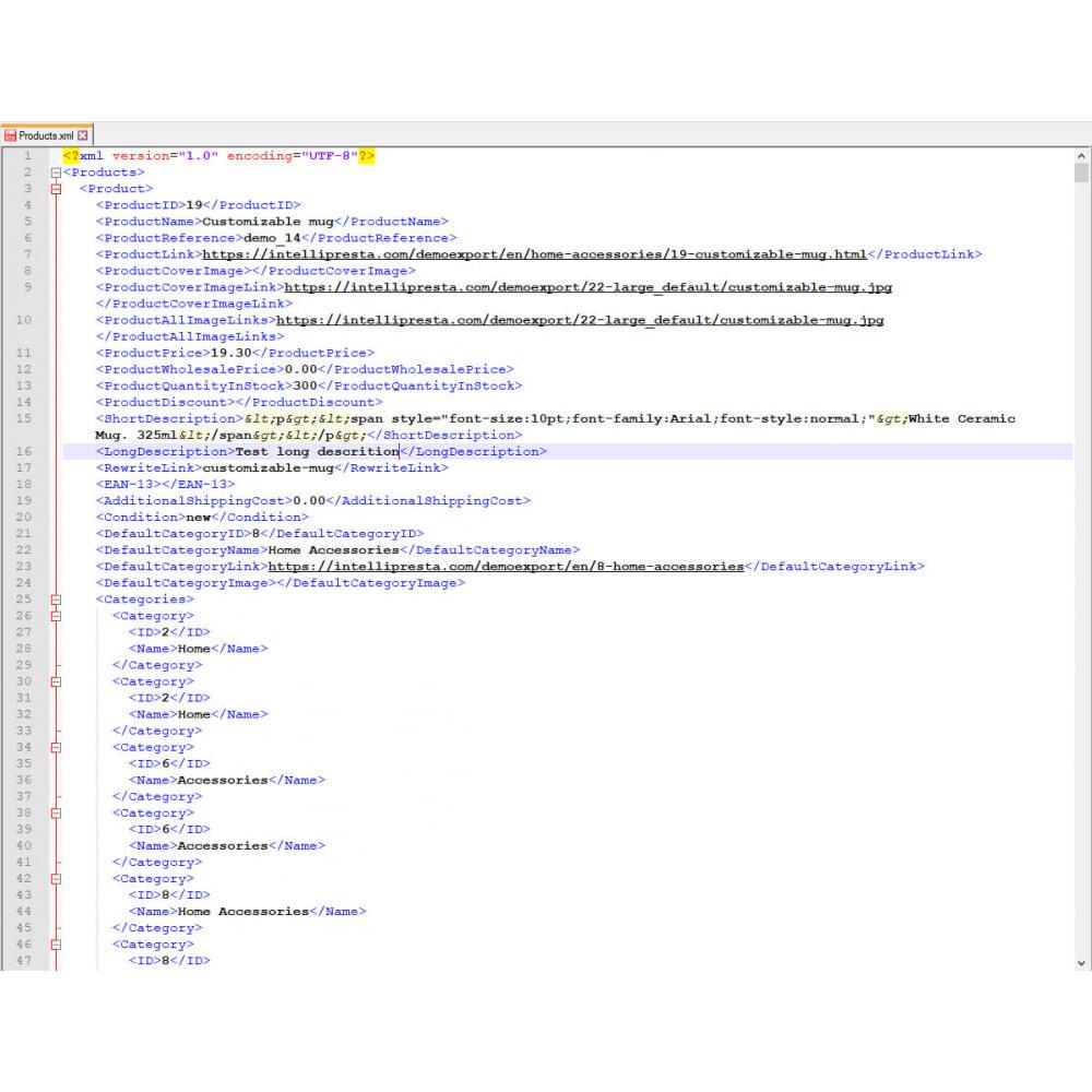 module - Importeren en Exporteren van data - Producten Export Pro (Excel, CSV, XML, PDF) - 9