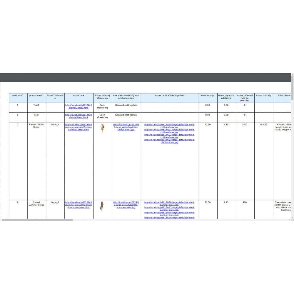 module - Importeren en Exporteren van data - Producten Export Pro (Excel, CSV, XML, PDF) - 10