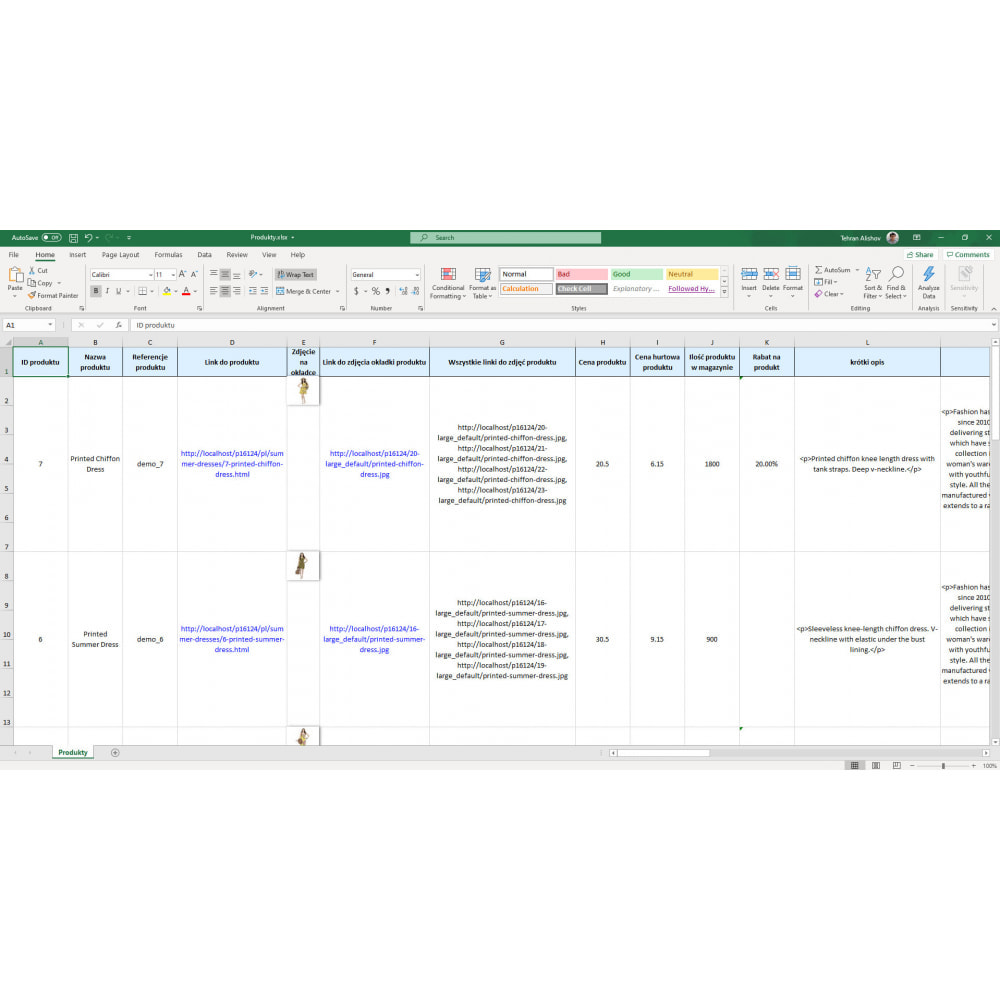 module - Import & Eksport danych (csv, pdf...) - Eksport Produktów Pro (Excel, CSV, XML, PDF) - 7