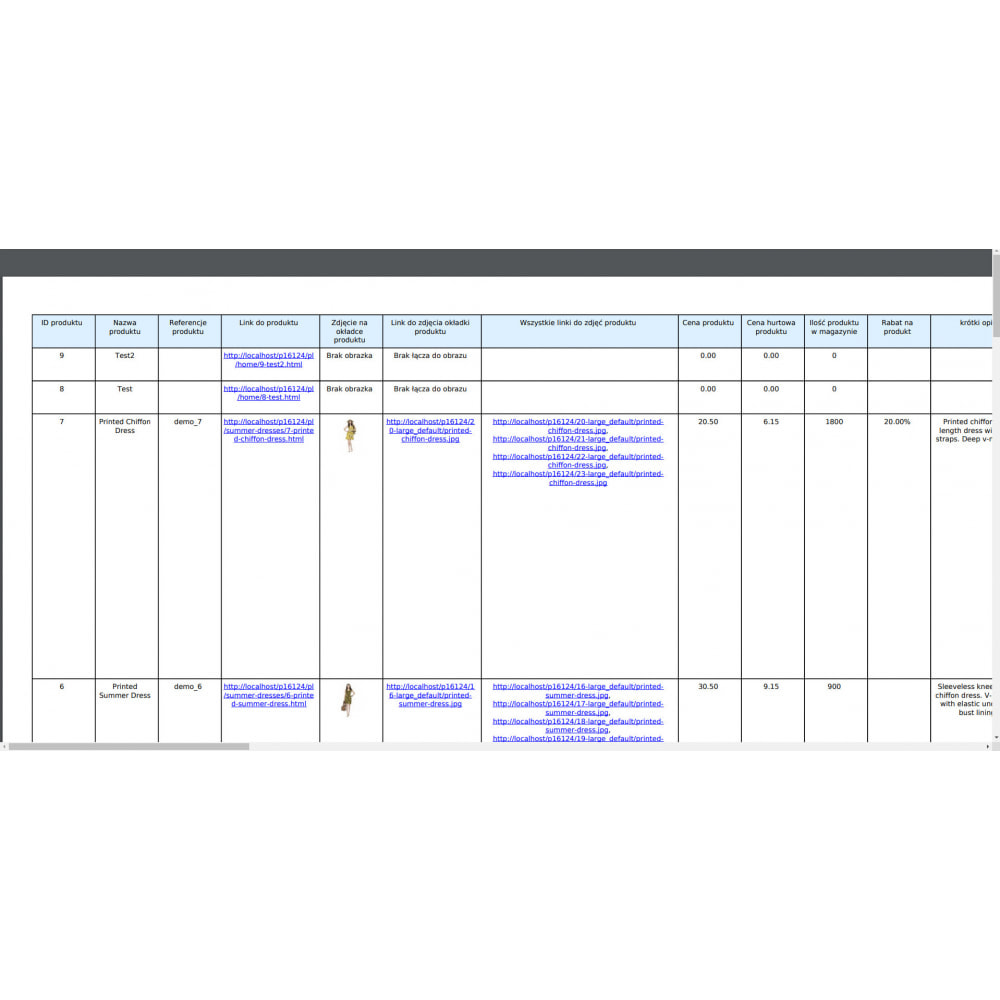 module - Import & Eksport danych (csv, pdf...) - Eksport Produktów Pro (Excel, CSV, XML, PDF) - 10