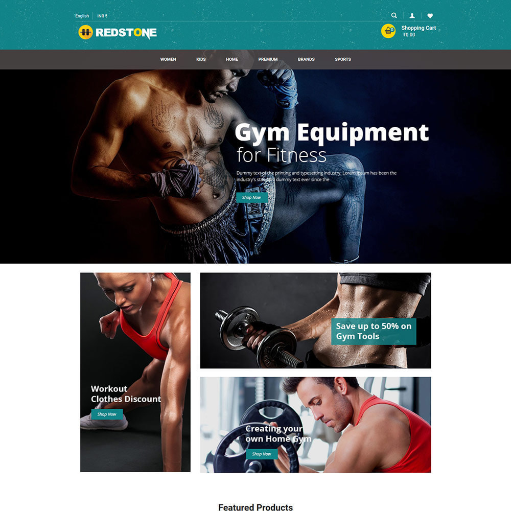 theme - Health & Beauty - Gym Athletic Club - Health Exercise Circus Store - 1