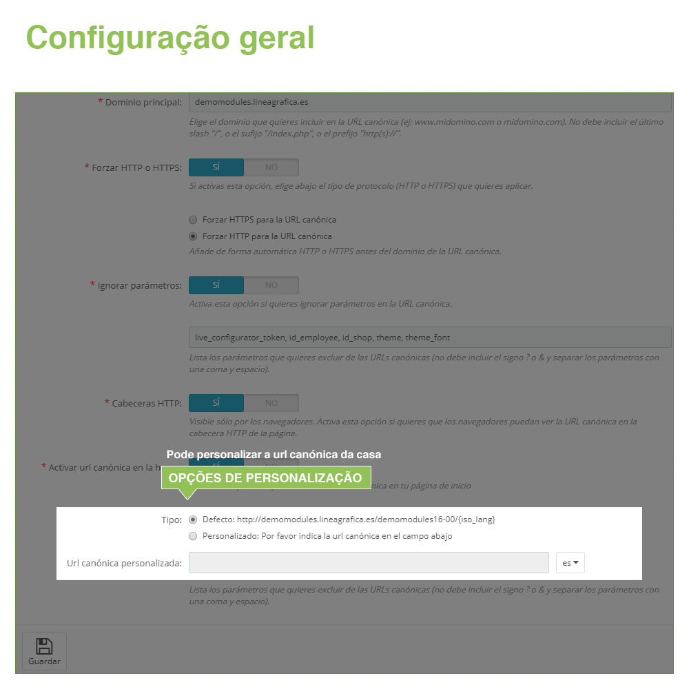 module - Gestão de URL & Redirecionamento - URLs canônicos para evitar conteúdo duplicado - 7