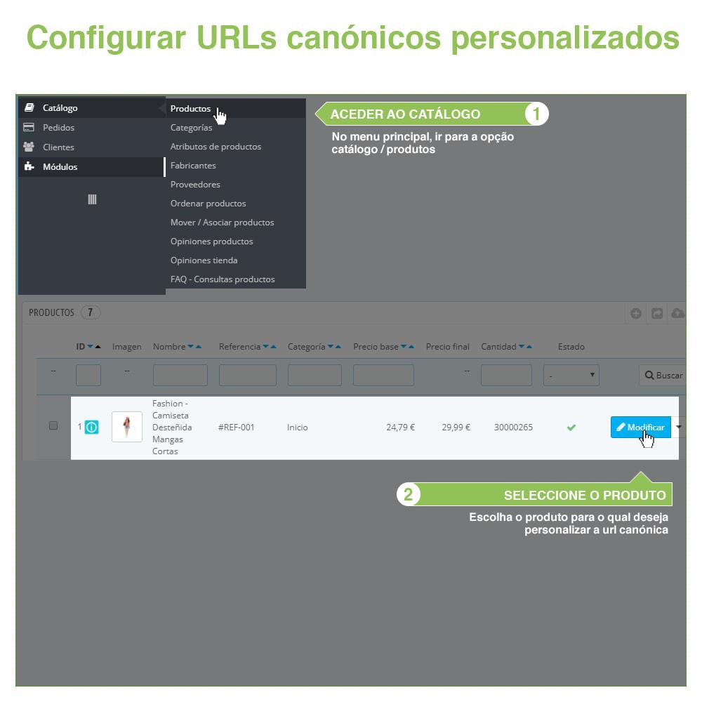 module - Gestão de URL & Redirecionamento - URLs canônicos para evitar conteúdo duplicado - 10