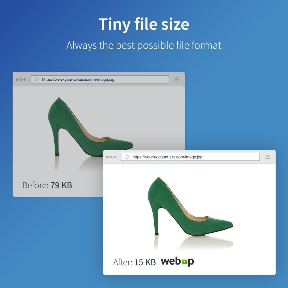 module - Desempenho do Site - Sirv - Image CDN, Optimization and JS/CSS minifier - 2