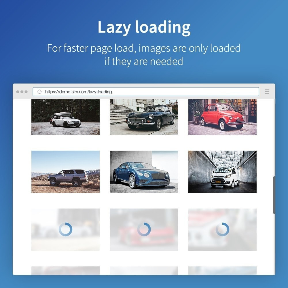 module - Desempenho do Site - Sirv - Image CDN, Optimization and JS/CSS minifier - 6