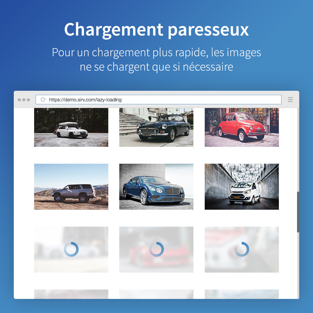 module - Performance du Site - Sirv CDN et optimisation - images, vidéo, 360 spin - 4