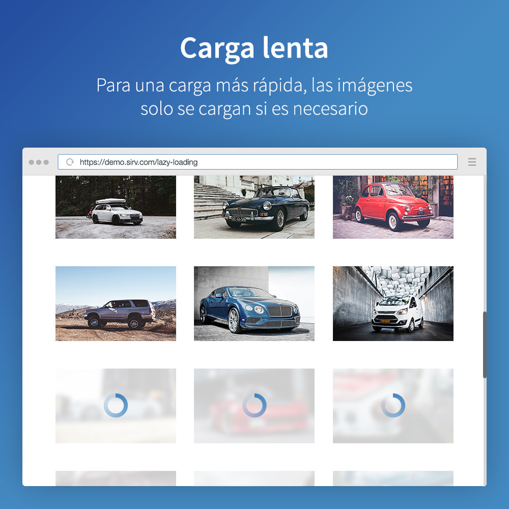 module - Rendimiento del sitio web - Sirv CDN y optimización: imágenes, video, giro 360 - 4