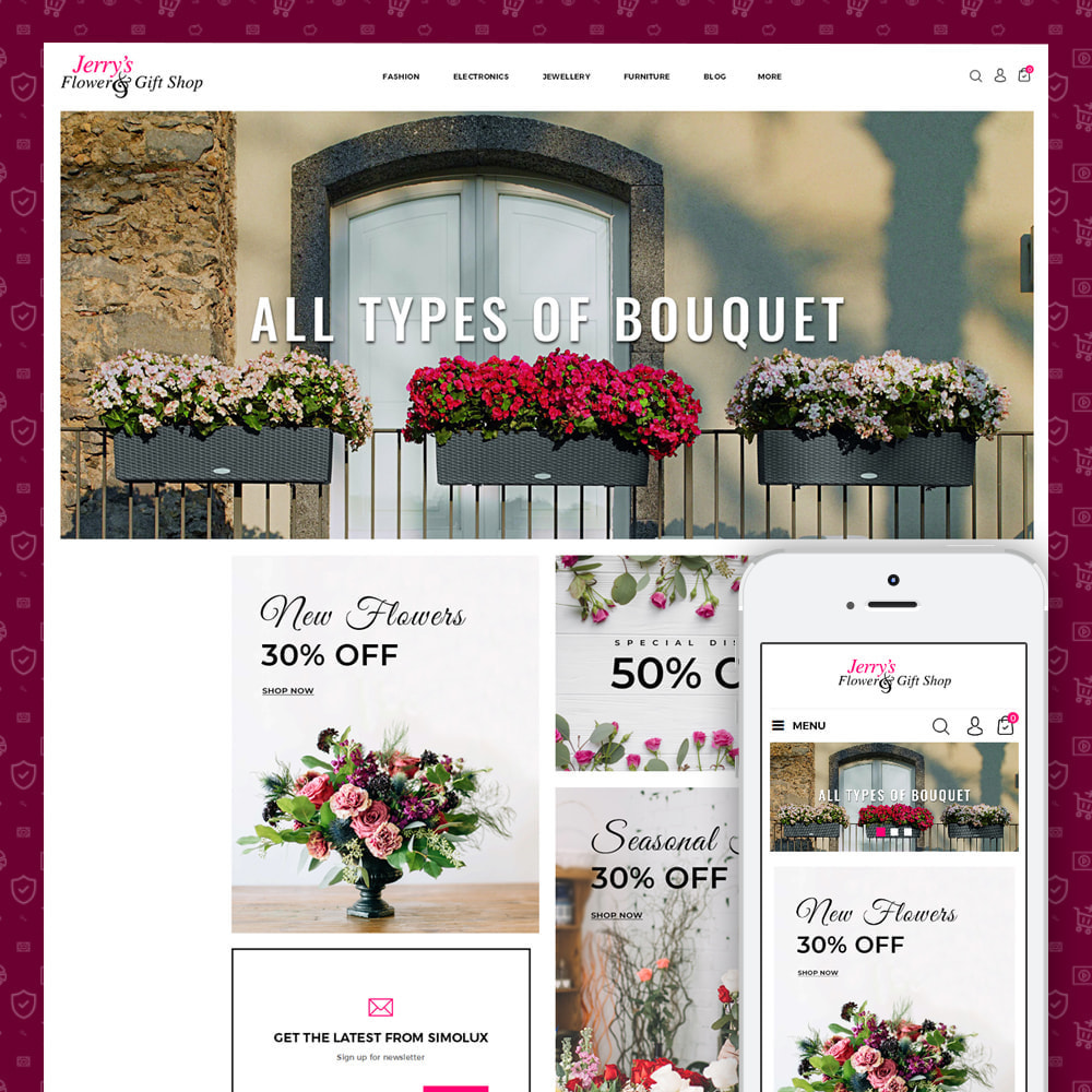 theme - Gifts, Flowers & Celebrations - Flower & Gift Store - 1