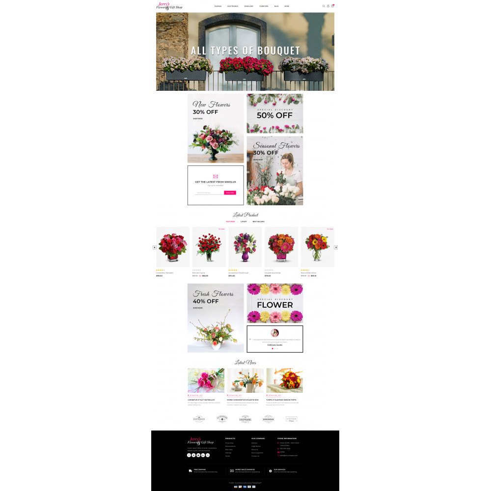 theme - Gifts, Flowers & Celebrations - Flower & Gift Store - 2