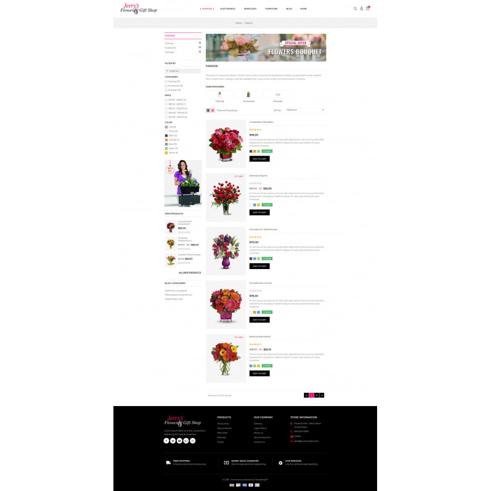 theme - Gifts, Flowers & Celebrations - Flower & Gift Store - 4